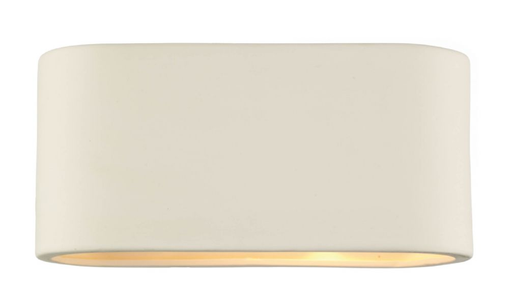 Axton 1-light Matt Ceramic Large Double Insulated Wall Light (Class 2 Double Insulated) BXAXT372-17